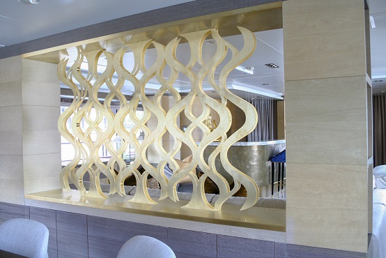 Decorative panels waterjet cut from brass or bronze material