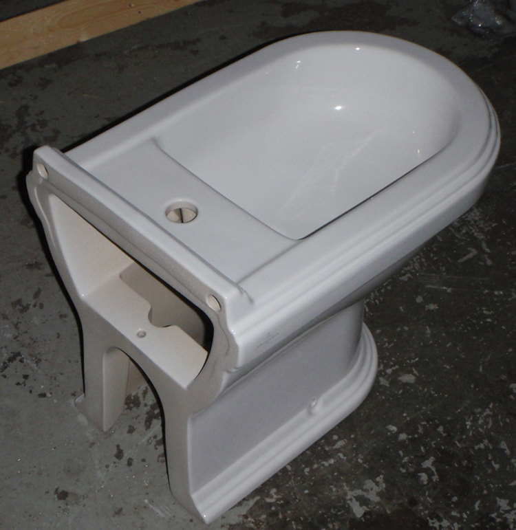 Bidet to be cut for extra tap