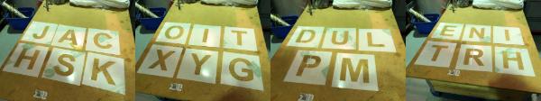 300mm polypropylene stencils