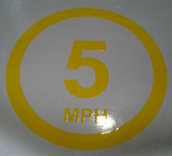 5mph speed sign logo stencil