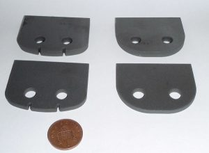 Ferrite Plates waterjet cut into parts