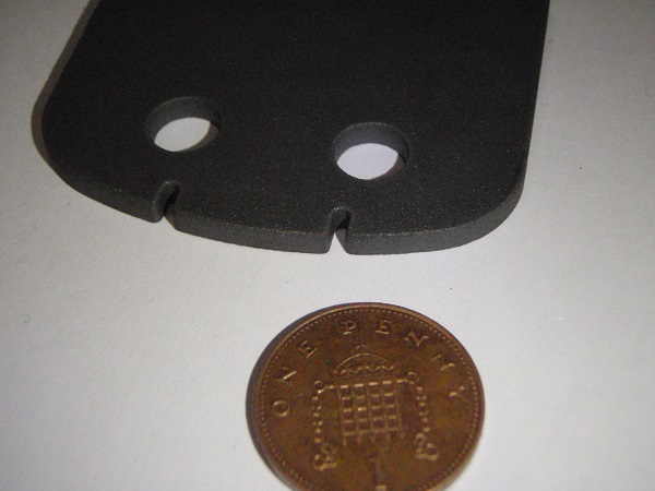 Ferrite Plates waterjet shown cut up close