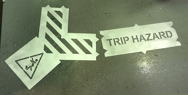 Hazardous area clip together stencil in bits