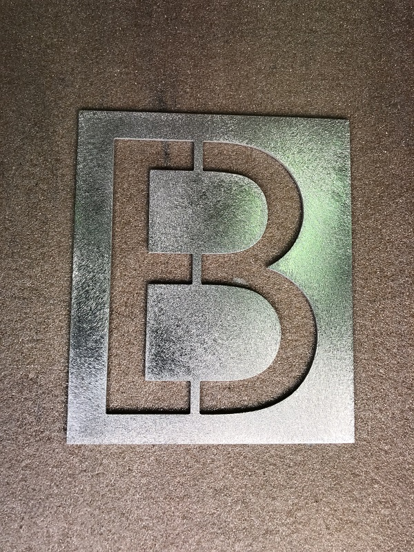 Letter B large 150mm stencil