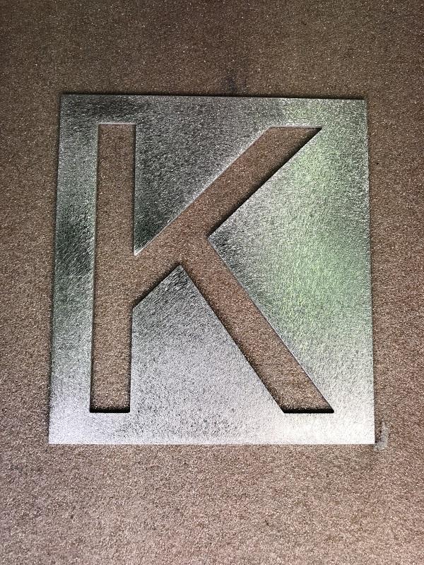 Letter K large 150mm stencil