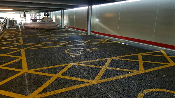 carpark disabled bay stencil markings