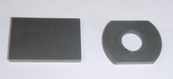 ferrite part before cutting and after