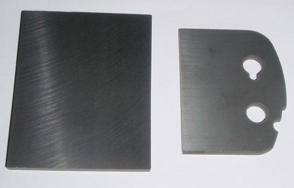 ferrite plate cut into a part before and after