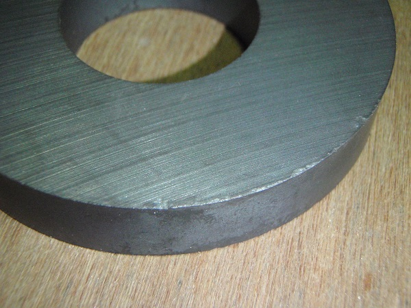 ferrite toroidal core before waterjet cutting
