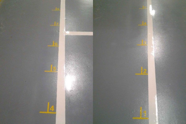 floor painted bay location stencil markings