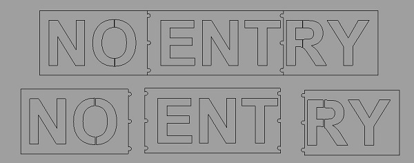 no entry stencil cad design
