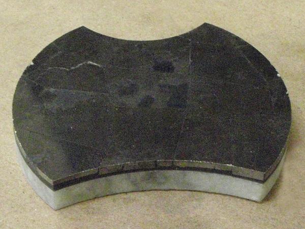 Pyrite tile waterjet cut into design