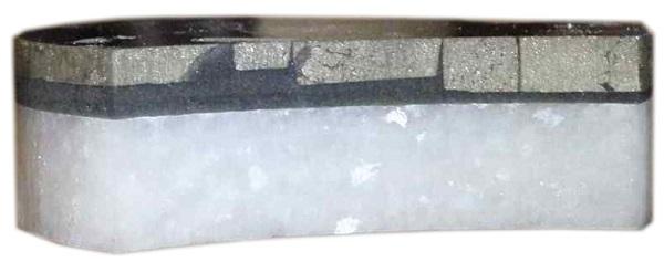 Pyrite tile waterjet cut