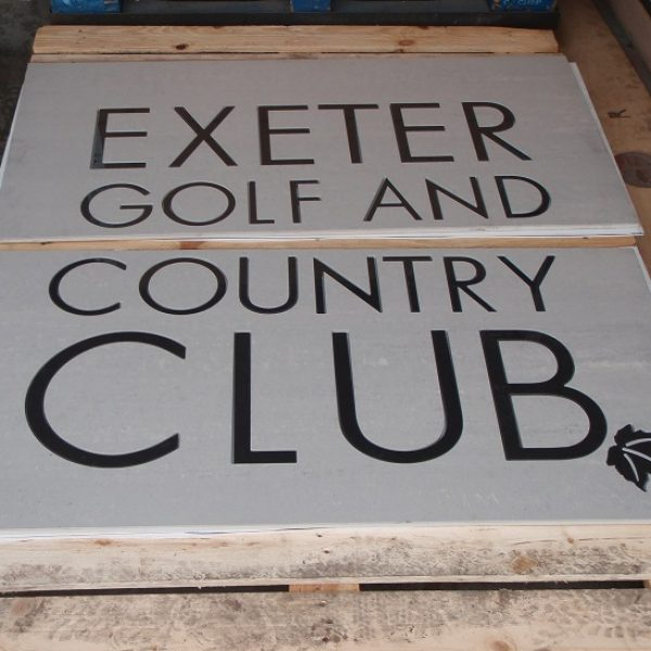 Inlaid ceramic and porcelain tile features for entrances logos and signs
